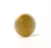 Pièce de monnaie de rotation photographie stock
