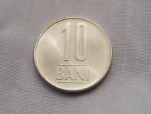 pièce de monnaie de Roumain du bani 10 Image stock