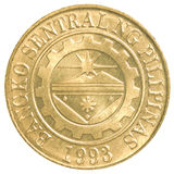 Pièce de monnaie de sentimo de 25 Philippine Photos libres de droits