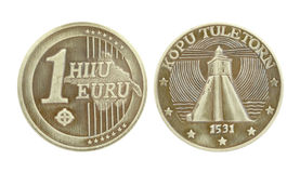 Pièce de monnaie de souvenir Photographie stock libre de droits