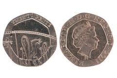 Pièce de monnaie de vingt penny Photographie stock