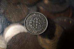 Pièce de monnaie de vintage Photographie stock libre de droits
