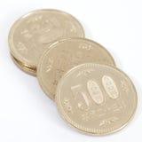 Pièce de monnaie de Yens japonais Image libre de droits