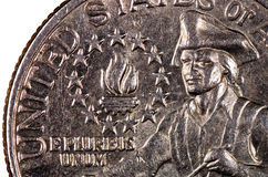 Pièce de monnaie des Etats-Unis d'Amérique Photo libre de droits