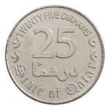 Pièce de monnaie 25 dirhams Photographie stock libre de droits