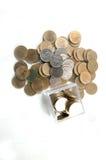 Pièce de monnaie du baht deux thaïlandais d'isolement Images stock