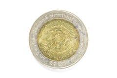 pièce de monnaie du baht 10 thaïlandais Photographie stock