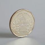 pièce de monnaie du baht 5 thaïlandais Image libre de droits