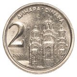 pièce de monnaie du dinar 2 yougoslave Photos stock