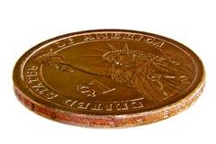 Pièce de monnaie du dollar Images libres de droits