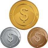 Pièce de monnaie du dollar Illustration Stock