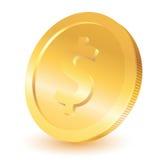 Pièce de monnaie du dollar d'or Image libre de droits