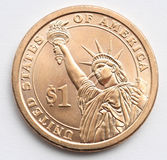 Pièce de monnaie du dollar d'Etats-Unis Photographie stock libre de droits