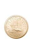 Pièce de monnaie du dollar d'isolement Photographie stock libre de droits