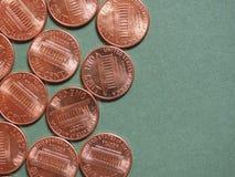 Pièce de monnaie du dollar (USD), actualité des Etats-Unis (Etats-Unis) Photos libres de droits