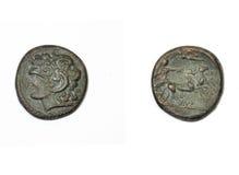 Pièce de monnaie du grec ancien Photos stock