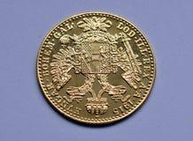 Pièce de monnaie - ducats d'or de l'Autriche - la Hongrie Photo libre de droits
