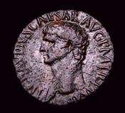 Pièce de monnaie en bronze romaine antique Agrippa Photographie stock libre de droits