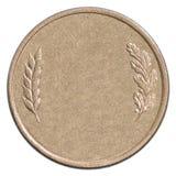 Pièce de monnaie en bronze vide image libre de droits