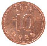 Pièce de monnaie en cuivre coréenne Photos libres de droits