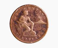 Pièce de monnaie en cuivre d'ère américaine Photo stock