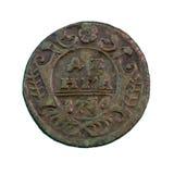 Pièce de monnaie en cuivre de Deng Photos libres de droits
