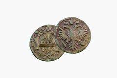 Pièce de monnaie en cuivre de Deng Image stock