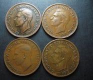 Pièce de monnaie en cuivre de penny de l'Australien un de vintage Photo stock