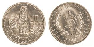 pièce de monnaie guatémaltèque de 10 centavos Photos stock
