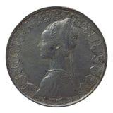 Pièce de monnaie italienne Image libre de droits