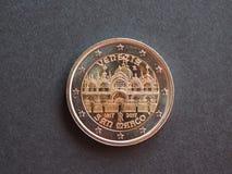 pièce de monnaie de l'euro 2, Union européenne Photo stock