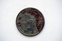 Pièce de monnaie ` le Texas de Washington Quarter de ` du 1/4 dollar photographie stock
