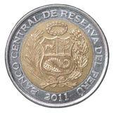 Pièce de monnaie péruvienne de semelles Photo libre de droits