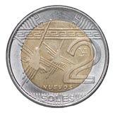 Pièce de monnaie péruvienne de semelles Photos libres de droits