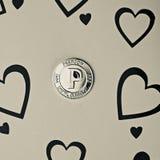 Pièce de monnaie de peercoin d'amour Photographie stock libre de droits