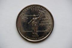Pièce de monnaie ` Pennsylvanie de Washington Quarter de ` du 1/4 dollar image libre de droits