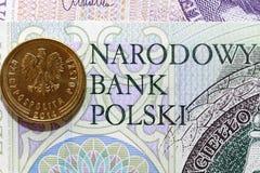 Pièce de monnaie polonaise Photos stock