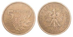 Pièce de monnaie polonaise Image libre de droits