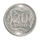 Pièce de monnaie polonaise de groszy Photo libre de droits