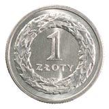 Pièce de monnaie polonaise de zloty Photographie stock