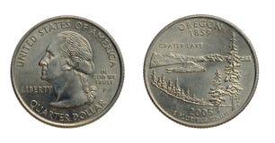 Pièce de monnaie quarte des USA photo libre de droits