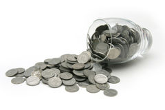 Pièce de monnaie-renversez Image stock