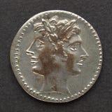 Pièce de monnaie romaine Photos libres de droits