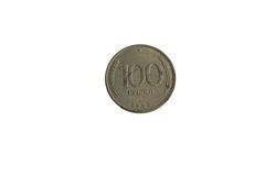 Pièce de monnaie 100 roubles Images stock