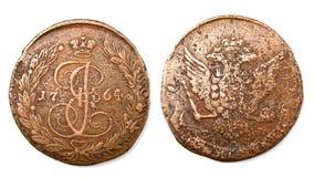 Pièce de monnaie russe antique Photo stock