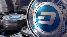Pièce de monnaie superbe d'argent numérique de tiret Images libres de droits