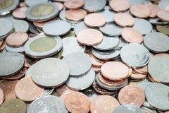Pièce de monnaie, tas des pièces de monnaie Photos stock