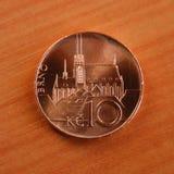 Pièce de monnaie tchèque Photos libres de droits