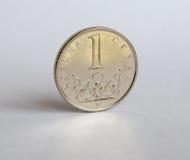 Pièce de monnaie tchèque photo stock