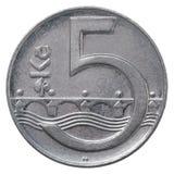Pièce de monnaie tchèque de couronne Photo libre de droits